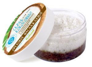 Кокосовый сахарно-соляной скраб «ОРЕХОВОЕ НАСЛАЖДЕНИЕ»
