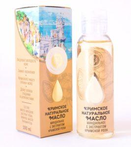 Натуральное масло миндаля с экстрактом крымской розы