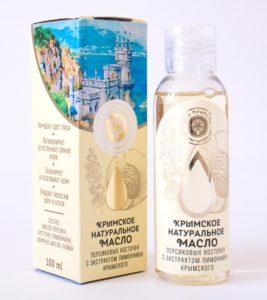 Натуральное масло персиковых косточек с экстрактом лимонника крымского