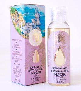 Натуральное репейное масло с экстрактом крапивы
