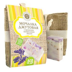 Мочалка-джутовая-с-натуральным-мылом-Лаванда.