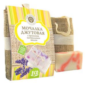 Мочалка-джутовая-с-натуральным-мылом-Роза.