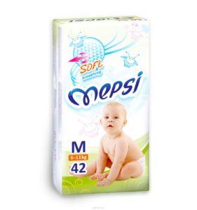 Детские подгузники «MEPSI»®* размер: M (6-11кг) 42 шт/уп
