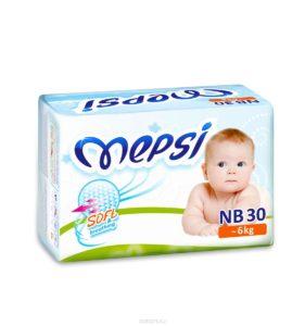 Детские подгузники «MEPSI»®* размер: NB (- 6кг) 30 шт/уп
