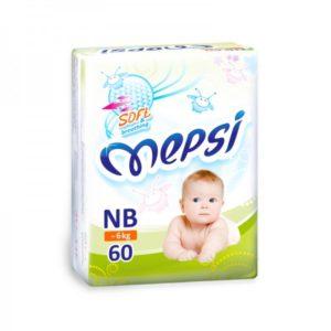 Детские подгузники «MEPSI»®* размер: NB (~6 кг) 60шт/уп