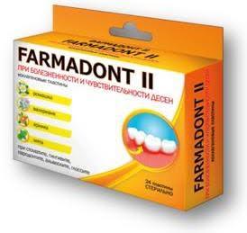 FARMADONT коллагеновые пластины при болезненности и чувствительности с ромашкой, валерианой, арникой и мятой