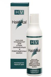 HAIR VITAL Бальзам-кондиционер для сухих, окрашенных и поврежденных волос с лизолецитином и черным орехом, 200 мл