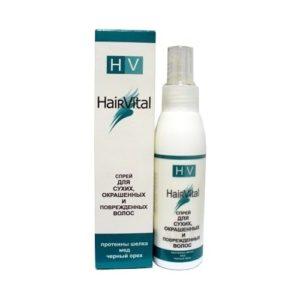 HAIR VITAL Спрей для сухих, окрашенных и поврежденных волос с протеином шелка, медом и черным орехом