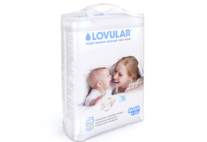 Подгузники LOVULAR HOT WIND M, 5-10 кг. 64 шт/уп