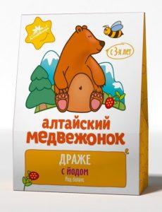 """Драже """"Алтайский медвежонок"""" с йодом"""