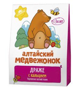 """Драже """"Алтайский медвежонок"""" с кальцием"""