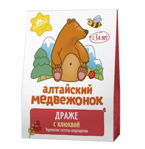 """Драже """"Алтайский медвежонок"""" с клюквой"""