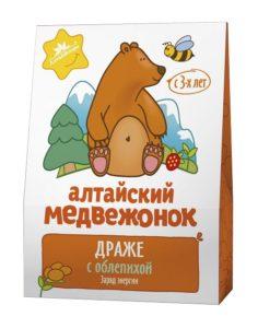 """Драже """"Алтайский медвежонок"""" с облепихой"""