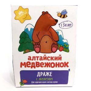 """Драже """"Алтайский медвежонок"""" с железом"""
