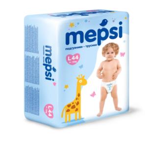 Детские подгузники-трусики Mepsi размер L (9-16 кг) 44 шт.