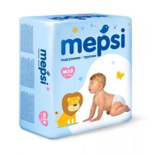 Детские подгузники-трусики Mepsi размер M (6-11 кг) 58 шт.