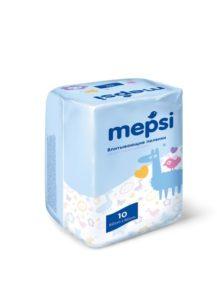Пеленки впитывающие Mepsi (60х60) 10 шт.