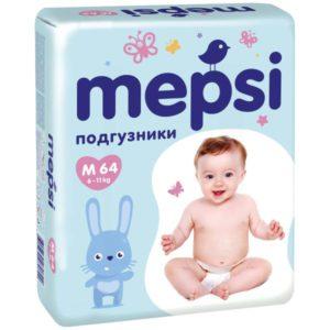Подгузники Mepsi размер M 6-11кг 64шт